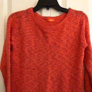 Joe Fresh long sleeve salmon sweater top sizeS